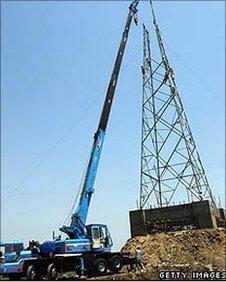 Electricity pylon in Pakistan