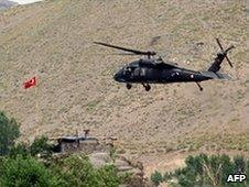 Turkish helicopter in south-eastern Turkey, 19 June 2010