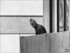 Masked Palestinian during Munich Olympics attack