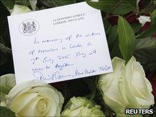Wreath from Prime Minister David Cameron