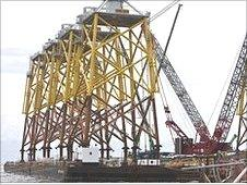 450 tonne wind turbine jackets