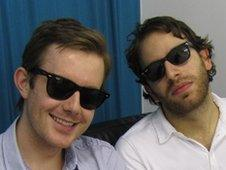 Chase And Status's Will Kennard and Saul Milton back stage