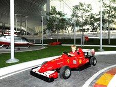 Child in mini-Ferrari