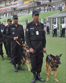 Security at Dhaka cricket ground