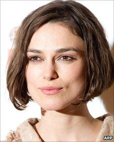 Keira Knightley poses for photographers at the Grosvenor Hotel
