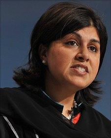 Baroness Warsi, co-chair of the Conservative Party