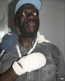 Ugandan opposition leader Kizza Besigye, 14 April 2011