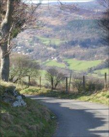 Part of the Etape Cymru route