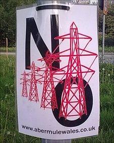 An anti-pylon poster