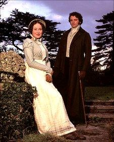 Jennifer Ehle and Colin Firth in Pride and Prejudice