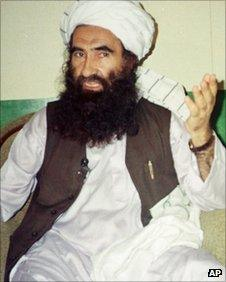 1998 file photo, Jalaluddin Haqqani