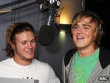 Dougie Poynter and Tom Fletcher from McFly