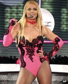 Britney Spears in concert in 2011