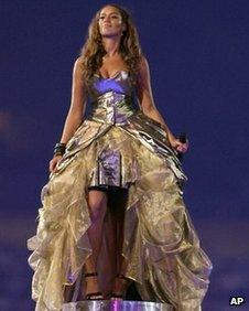 Leona Lewis at the closing ceremony of the Beijing Olympics