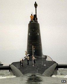 One of the Royal Navy's Trident submarines