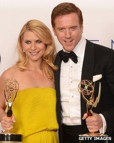 Claire Danes and Damian Lewis, at the Emmys in September