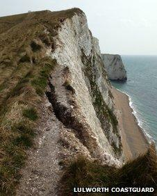 Cliffs west of Lulworth