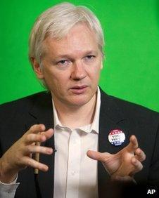 Julian Assange on 23 January 2013
