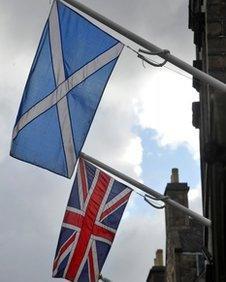 Flags in Edinburgh