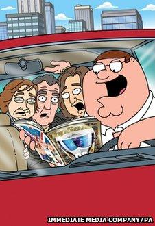 Top Gear presenters as Family Guy characters