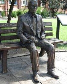 A statue in Sackville Gardens is one of several local tributes to Alan Turing