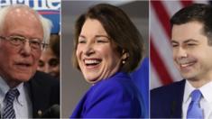 Bernie Sanders, Pete Buttigieg và Amy Klobuchar, ba người dẫn đầu ở tiểu bang New Hampshire