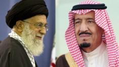 العاهل السعودي ومرشد الثورة الايرانية