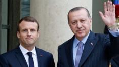 French President Emmanuel Macron and Turkey's president Tayyip Erdogan