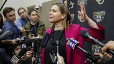 Elissa Slotkin faces reporters