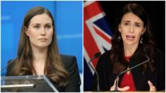 Sanna Marin (trái) vừa trở thành Thủ tướng Phần Lan khi mới 34 tuổi còn Jacinda Arden đã trở thành Thủ tướng New Zealand khi cô 37 tuổi vào 2017