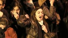 Sinh viên biểu tình ở Đại học Amir Kabir hôm thứ Bảy 11/1