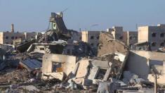 آثار الدمار التي خلفتها الحرب في مدينة الفلوجة العراقية