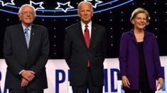 Sanders, Biden and Elizabeth Warren