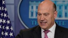 Director of the National Economic Council, Gary Cohn, speaks during a White House news conference on January 23, 2018