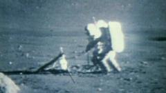 Nasa astronauts on the moon