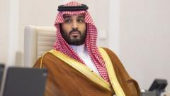 A handout photo shows Saudi Arabia's Crown Prince Mohammed bin Salman at the G20 Riyadh Summit, Riyadh, Saudi Arabia (21 November 2020)
