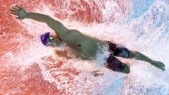 Great Britain's James Guy competes in the final of the men's 200m freestyle swimming event at the 2015 FINA World Championships in Kazan