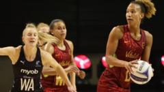 Serena Guthrie playing for the England Vitality Roses