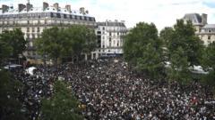 Paris protest.