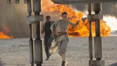 Scene from Star Wars: The Force Awakens