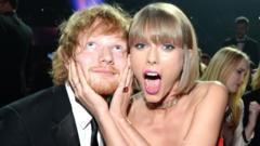 Ed and Taylor making faces
