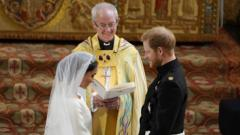 Meghan and Prince Harry at the altar