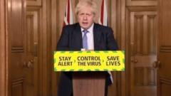 Prime Minister Boris Johnson gives a coronavirus press conference at Downing Street