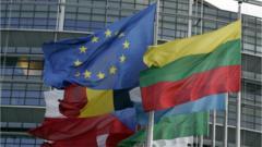 Flags and EU flag