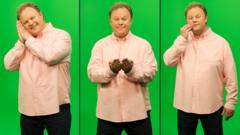 CBeebies star Justin Fletcher using Makaton.