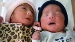 Babies Jaelyn and Luis
