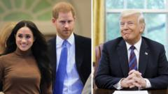 Meghan, Harry and Donald Trump