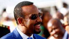 Ethiopian Prime Minister Abiy Ahmed arrives in Khartoum for an official visit to Sudan on May 2, 2018.