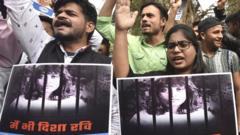 Protest about Disha Ravi in Delhi