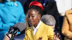 Amanda Gorman recites a poem during the inauguration of Joe Biden as the 46th President of the United States on the West Front of the U.S. Capitol in Washington, U.S., January 20, 2021
